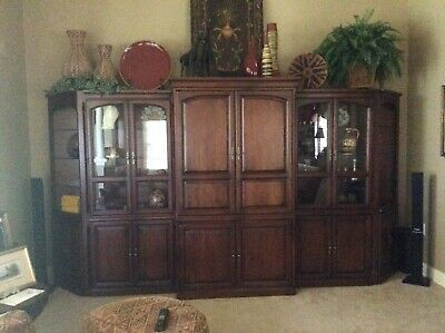 6 piece solid cherry entertainment center
