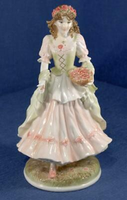 Royal Worcester Figurine 'The Queen of the May', by Maureen Halson - 1992