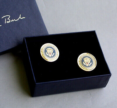 President George H W Bush 41 - Cuff Link Set -  Authentic White House Gift  RARE