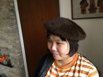 Womens Vintage 60s 70's Kangol Brown Faux Fur Hats a pair  very cute and stylish