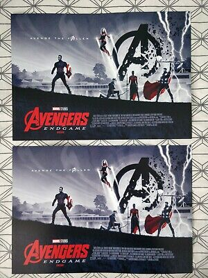 2x Marvel Avengers Endgame ODEON A3 Poster 1/2 Matt Ferguson, Captain Antman