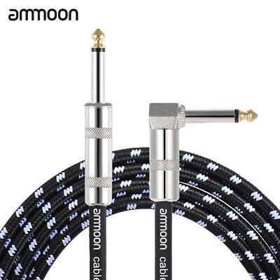 ammoon 3 Meters/ 10 Feet Electric Guitar Bass Musical Instrument Cable Cord Z5I9