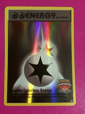 OtBG Double Colorless Energy 90//108 STAFF Promo North NA Championship Holo NM