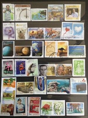 Recent Years Australian Stamps All Over 60c - On Paper - Over 70 All Diff