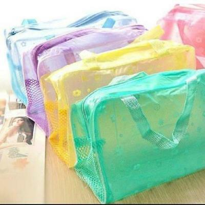 Transparent Waterproof Shower Makeup Commodity Bag Travel Portable Pouch MP