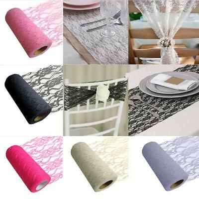 Romantic Vintage Lace Roll Banquet Table Chair Sash Wedding Party Decor MP
