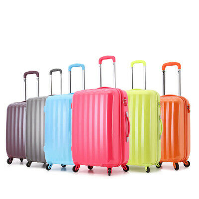 Hard Shell ABS Suitcase 4 Wheel Spinner Luggage Trolley Case Expandable Cabin
