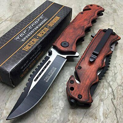 Tactical Folding Knife 3.50 Inch Blade Quick Opening Assist Locking Blade Steel