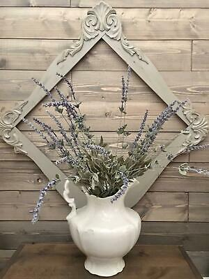 Antique PAINTED SHABBY & CHIC MIRROR FRAME primitive fixer upper SALVAGED decor