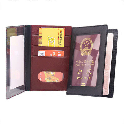Passport Travel PU Leather Organizer Holder Card Case Protector Cover Wallet MP