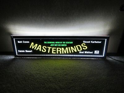 *** MASTERMINDS [1997] *** D/S 5x25 [LARGE] MOVIE THEATER POSTER [MYLAR] ***
