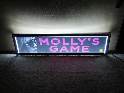 *** MOLLY'S GAME [2017] *** 5x25 [LARGE] MOVIE THEATER POSTER [MYLAR] ***