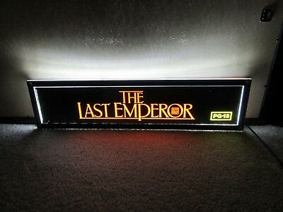 *** THE LAST EMPEROR [1987] *** D/S 5x25 [LARGE] MOVIE THEATER POSTER [MYLAR]