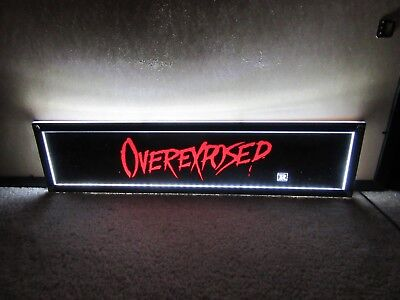 *** OVEREXPOSED [1990] *** D/S 5x25 [LARGE] MOVIE THEATER POSTER [MYLAR] ***