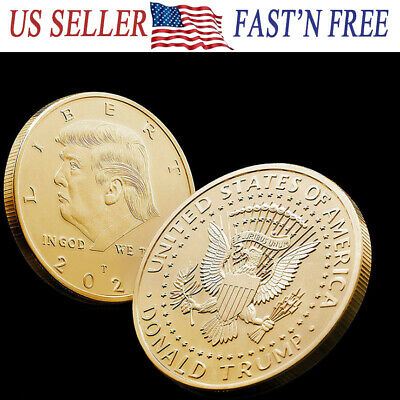 2020 US President Donald Trump Inaugural Eagle Commemorative Novelty Coin Gold