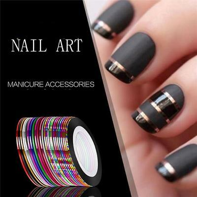 1Set Mixed Colors Rolls Striping Tape Line DIY Nail Art Tips Decoration Sticker
