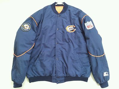 Vintage Rare Made In Usa Starter Chicago Bears Jacket In Size Xl