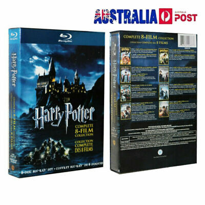 Harry Potter Complete 1-8 Movie DVD Collection Films Box Set