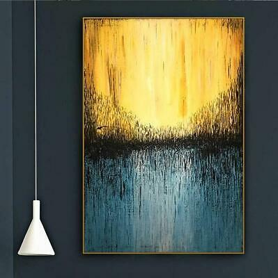 """YA792 WALL DECOR HAND-PAINTED CANVAS ABSTRACT OIL PAINTING UNFRAMED 24""""x36"""""""