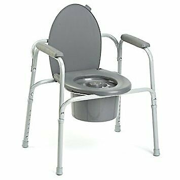 Invacare All-In-One Commode 25.25: - 29.25: Seat Height, 1 Count