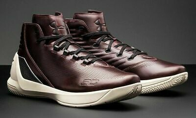 5562a8123a9c Under Armour UA Curry 3 Lux Limited Edition Oxblood Leather 1299661-945 Men s  10