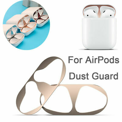 Metal Dust Guard Iron Shavings Protection for Apple AirPods Case Cover Stickers