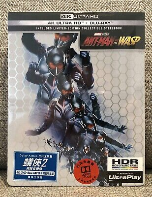 ANTMAN AND THE WASP 4K UHD + blu-ray STEELBOOK [HONG KONG] NEW MINT SOLD OUT