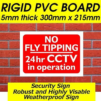 Option 1 297x210x3mm PVC FLY TIPPERS BE WARNED THIS AREA IS UNDER SURVEILLANCE