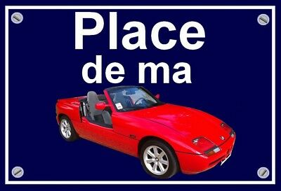 "plaque "" PLACE DE MA BMW Z1   """