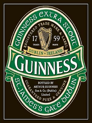 Guinness Ireland retro vintage style metal sign//plaque man cave shed bar pub