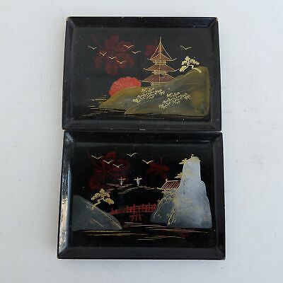Japanese Hand Painted Serving Trays