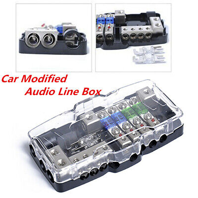 car vehicle modified audio accessories line fuse box with led lights  indication