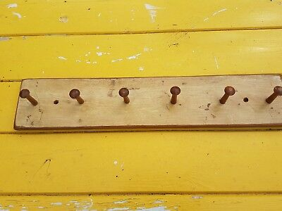 vintage shaker peg rack hook in original paint / kitchen  rack  Victorian pine