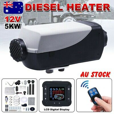 12V 5KW Air Diesel Heater Caravan Motorhome Trailer RV Thermostat Remote Control