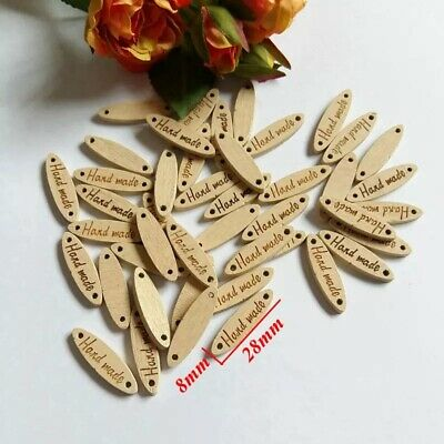 15 x Hand Made Oval Wooden Buttons Hand Made Art Crafts Decorations Scrapbooking