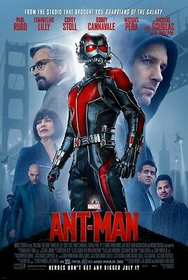"Marvel ANT-MAN 2015 Original DS 2 Sided 27x40"" Movie Poster Paul Rudd M Douglas"
