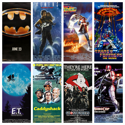 80s Movie Posters A4 Wall Decor Fan Art Photo Film Kids Bedroom Retro Film Art