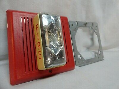 Edwards 757-8A-CS Indoor Strobe Chime Synchronized Fire Alarm w/Mount