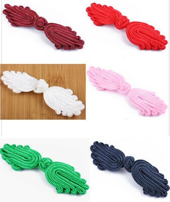 1 Pair Frog Fasteners Button Knots 7 Different Colours  # S22 - Large