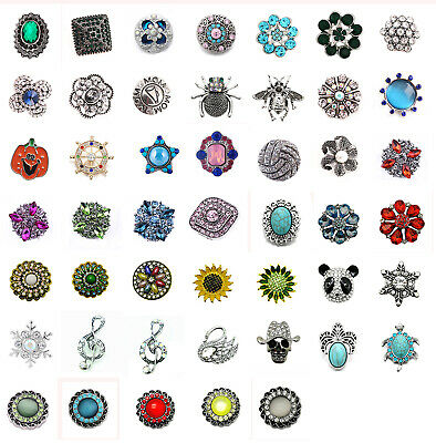 3D Crystal Chunk Charm Snap Button Fit For Noosa Necklace/Bracelet 127-186