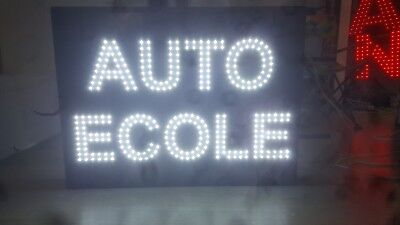 "Lumineuse LED ""AUTO-ECOLE"" 2 FACES EXTERNE"