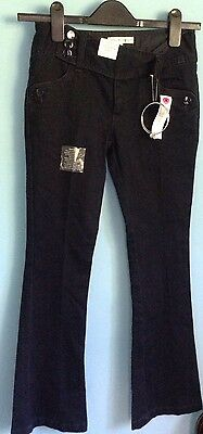 Bnwt Girls Autograph Jeans Trousers, Age 10, Dark Blue, Bangles