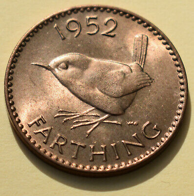 1952 Farthing (1/4d) Coin - Brilliant Uncirculated