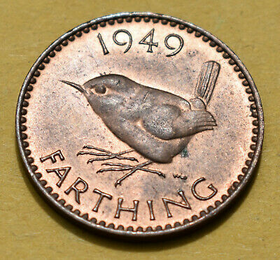 1949 Farthing (1/4d) Coin - Uncirculated