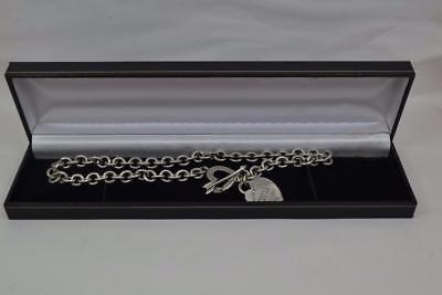 """Tiffany & Co Heart & Arrow Sterling silver necklace Italy 925 16"""" L 1994 retired"""