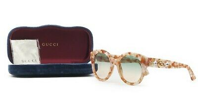 5b7c0d4b45 GUCCI Women s Pink Marble Sunglasses w case GG 0207S 005 51mm