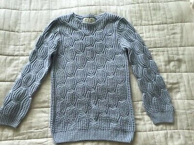 Girls Primark Light Blue Jumper 12-13 Years