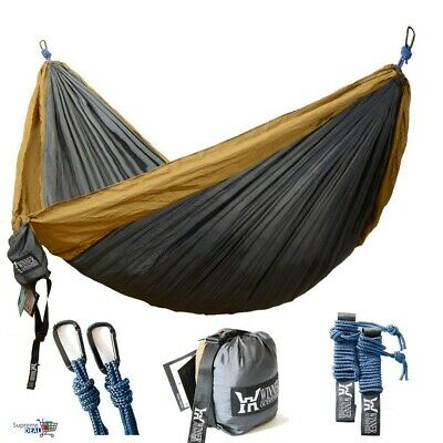 Camping Hammock Lightweight Nylon Double Portable Parachute Backpacking Travel