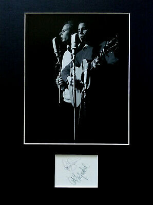 SIMON and GARFUNKEL signed autograph PHOTO DISPLAY Paul Simon Art Garfunkel