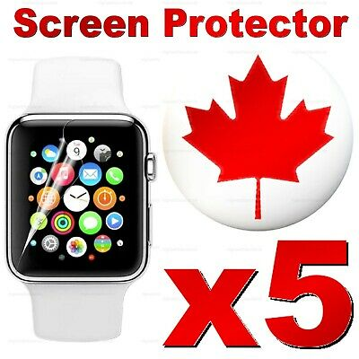 Clear Transparent Film Screen Protector For Apple Watch 38mm, 40mm, 42mm, 44mm